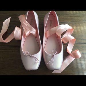 Mini Melissa Shoes - Size 6 Women's Mini Melissa Lace up Ballet Flats