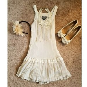 Angie Dresses & Skirts - Vintage antique white dress