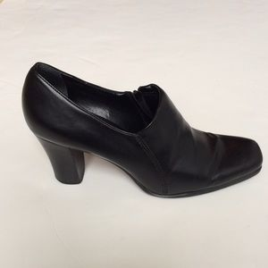 Franco Sarto Shoes - Franco Sarto Black Leather Ankle Booties Boots