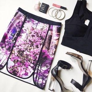 Hale Bob Dresses & Skirts - Hale Bob Farrah Neoprene Floral Skirt
