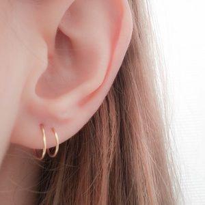 RESTOCKED Fake double Hoop earrings