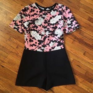 Oasis Dresses & Skirts - Pink & Black Floral Romper - Size S