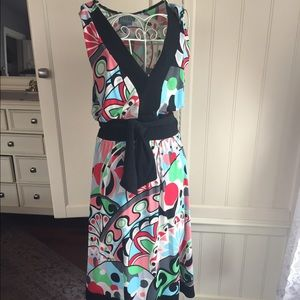 HOST PICK Vibrant multicolor belted dress