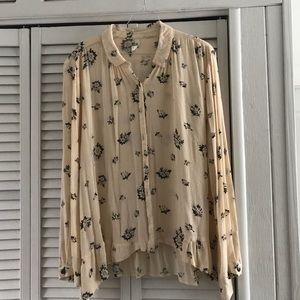 Free People floral button up