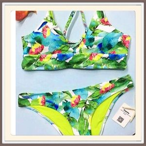 Boutique Other - Oil Painting Floral Bikini