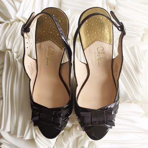 Cole Haan Shoes - Cole Haan Nike Air Peep Toe Slingback Heels