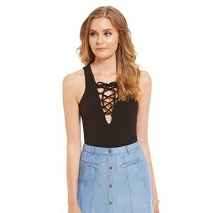 Sugarlips Tops - Lace up body suit