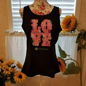 John Deere Tops - Women's tank top, shirt, sparkles! XL & XXL