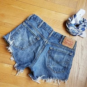 Levi's Pants - Levi's 517 high waisted cut off shorts