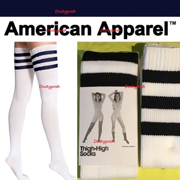 American Apparel Accessories American Apparel Thigh High Socks Over The Knee Poshmark