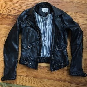 Zara Trafaluc Vegan Leather Jacket Size Small