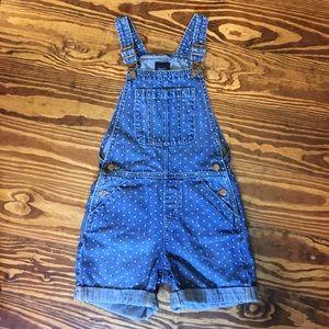 GAP Other - Gap Kids Denim Polka Dot Shorts Overalls
