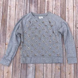 J.Crew Factory Other - J.Crew Grey Beaded Sweatshirt. Size 14