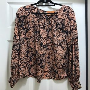 Tops - Pink and navy blouse