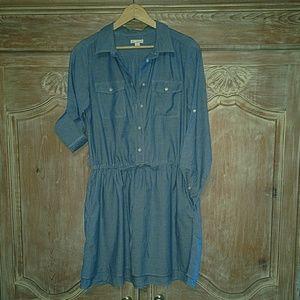 Gap Chambray Shirt Dress with Pockets
