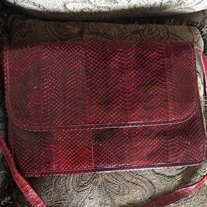 Handbags - Marilyn Scher 🐍 Skin Purse Vintage