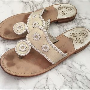 Jack Rogers Shoes - Jack Rogers Navajo sandals ivory glitter size 7.5