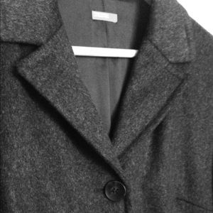 United Colors Of Benetton Jackets & Blazers - United Colors of Benetton Charcoal Wool Coat
