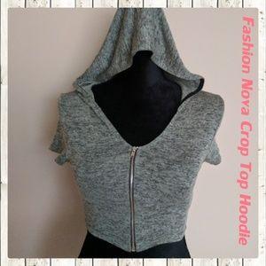 Fashion Nova Tops - New Fashion Nova Crop Top Hoodie