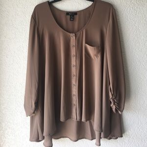 Style & Co Tops - Tan Blouse