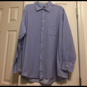 Burberry Other - Authentic Burberry Mens Blue Striped Dress Shirt