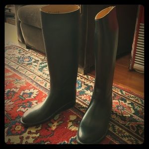 Aigle Shoes - Chic black French riding rain boots by Aigle