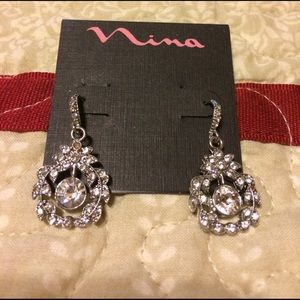 Jewelry - Nina Everly Silver & Crystal Earrings
