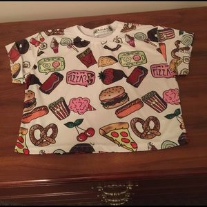 sheinside  Tops - snack crop top size small