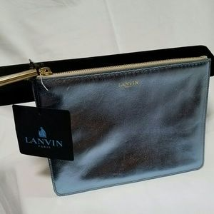 Lanvin Handbags - Lanvin Metallic Zippered Pouch