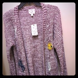 Hippie Rose Sweaters - New cardigan burgundy