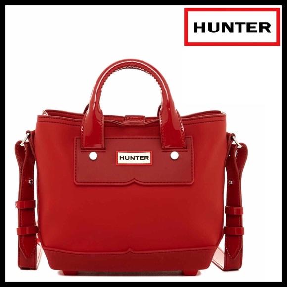 Hunter Bags   Original Red Rubber Mini Crossbody Tote Bag   Poshmark 23f3ba78e8