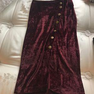 ASOS Velvet Asymmetrical Midi Skirt!!