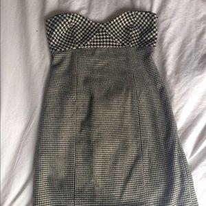 Cynthia Steffe Houndstooth Strapless Dress