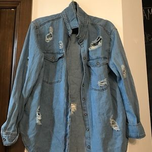 Lucca Couture Jackets & Blazers - Distressed jean jacket