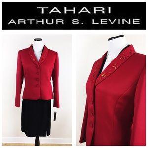 Tahari Jackets & Blazers - TAHARI BY ARTHUR LEVINE RED BLAZER SZ 10