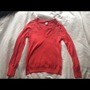Pink J. Crew V-Neck Sweater