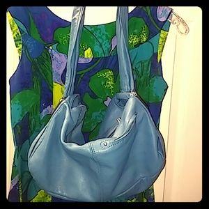B Makowsky Handbags - Slouchy teal hobo bag