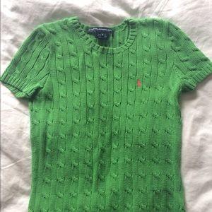 Ralph Lauren Sport Cable Knit Short Sleeve Sweater
