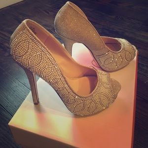 De Blossom Collection sparkle  heels