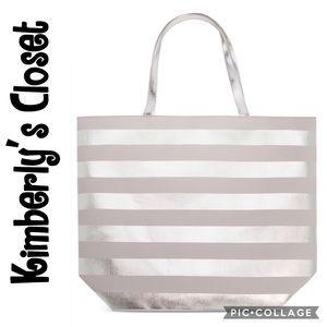 Macy's Handbags - 🆕 🛍MACY'S Silver Striped Tote🛍