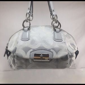 COACH Silver Op Art Dome Satchel