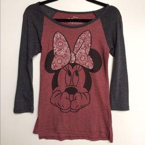 Disney Tops - Disney Minnie Mouse Baseball Shirt