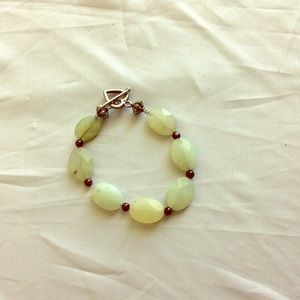 NWTS Bracelet Aventurine flat faceted beads.