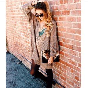 Millau Sweaters - LF stores Millau oversized maroon sweater dress