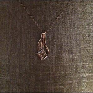 Zales Jewelry - NWOT Zales Crushed Diamond Necklace