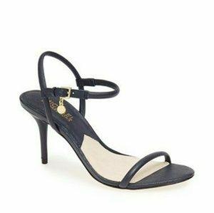 Michael Kors Shoes - Michael Kors Navy Blue Sandals Heels