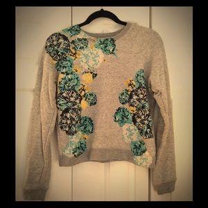 J. Crew Floral Sweatshirt XS