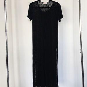 Open split t-shirt dress