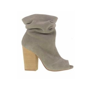 Chinese Laundry Shoes - Grey Suede Chinese Laundry Open toe Booties