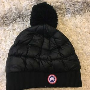 Canada Goose Accessories - Authentic Canada Goose down hat with pom pom